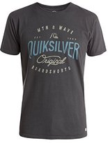 Quiksilver Men's Garment Dyed Short Sleeve Dual Fuel T-Shirt