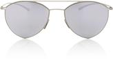 Mykita Silver Aviator Sunglasses