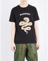 Maharishi Snake-embroidered Cotton-jersey T-shirt