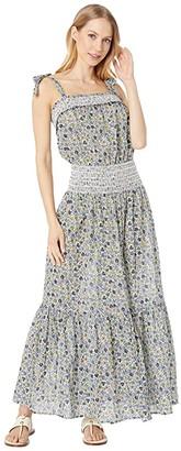Tory Burch Swimwear Smocked Sundress Cover-Up (Love Floral Degrade) Women's Swimwear