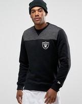 New Era Raiders Sweashirt With Contrast Yoke
