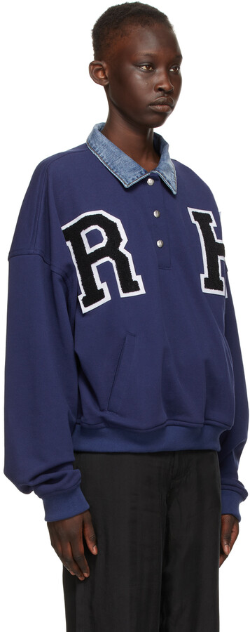 Thumbnail for your product : Rhude Blue Collegiate Sweatshirt