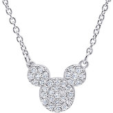 Disney Mickey Mouse Icon Necklace by CRISLU - Platinum