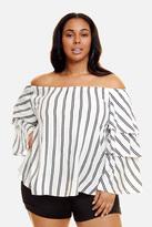 Fashion to Figure Narissa Off Shoulder Ruffle Sleeve Blouse