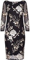 Adrianna Papell Floral Sequin Dress