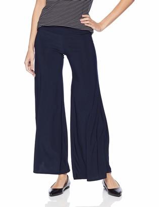 Star Vixen Women's Stretch ITY Knit Wide-Leg Palazzo Pant