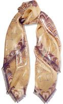 Missoni Printed Silk-blend Scarf - Gold
