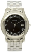 Gucci 5500M Stainless Steel Date Black Dial 35 mm Mens Watch