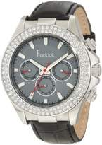 Freelook Women's HA6306-1 Black/Silver Swarovski Leather Watch