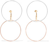 Charlotte Chesnais Galilea 18-karat Gold And Rose Gold-dipped Hoop Earrings