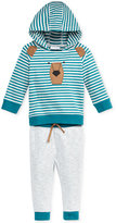 First Impressions Baby Boys' 2-Pc. Striped Bear Hoodie & Pants Set, Only at Macy's