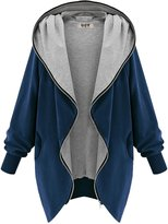 DJT Womens Hooded Zip-up Sweatshirt Coat Jacket