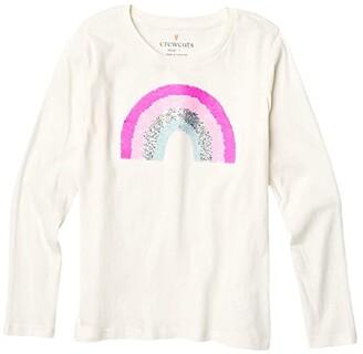 crewcuts by J.Crew Sequin Rainbow Tee (Little Kids/Big Kids) (Rainbow) Girl's Clothing