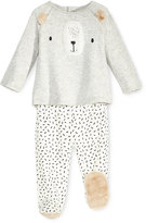 First Impressions 2-Pc. Bear Top and Footed Pants Set with Faux Fur Trim, Baby Boys and Girls (0-24 months), Created for Macy's