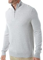 Nautica Men's Standard Long Sleeve Solid Quarter Zip Knit Sweater