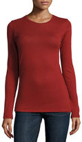 Majestic Paris for Neiman Marcus Cotton/Cashmere Long-Sleeve Crewneck Pullover