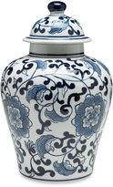 AA Importing 10 Royal Ginger Jar, Blue/White