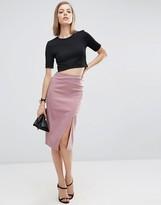 Asos Bengaline Skirt with Split