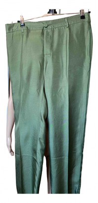 F.R.S For Restless Sleepers Green Silk Trousers