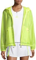 Monreal London Wave Hooded Zip-Front Wind-Resistant Jacket