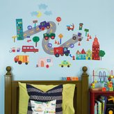 Oopsy Daisy Fine Art For Kids 28 by 35-Inch Peel and Place on The Road Again by Jill McDonald, Small