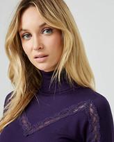 Le Château Lace & Knit Turtleneck Sweater