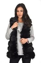 AX Paris Black Faux Fur Gilet