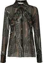 Sophie Theallet printed sheer shirt