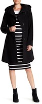 Kimi + Kai Lora Wool Blend Belted Hood Coat (Maternity)