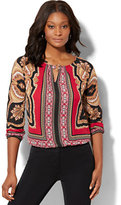 New York & Co. 7th Avenue Design Studio-Hardware-Accent Blouse - Medallion Print