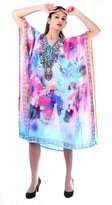 SUNROSE color Digital Printed Plus Size Beach Cover up Kaftan Caftan