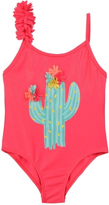 Billieblush Girls Cactus Swimsuit - Fuchsia