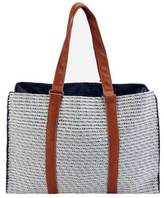 San Diego Hat Company Women's Paperbraid Tote BSB1564 - Blue Mix Casual Handbags