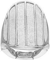 JLO by Jennifer Lopez Glittery Oval Stretch Ring