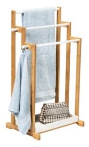 Honey-Can-Do 3-Tier Bamboo Bathroom Towel Rack