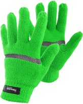 FLOSO Youths Knitted Hi Vis Thinsulate Thermal Gloves (3M 40g)