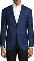 Corneliani Men's Wool Plaid Notch Lapel Sportcoat