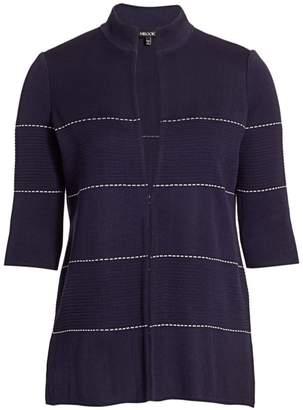 Misook Misook, Plus Size Dash Detail Ottoman Knit Cardigan