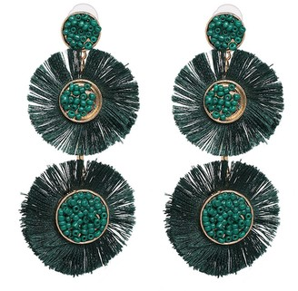 Goodnight Macaroon 'Tamara' Tassel Bead Drop Earrings (7 Colors)