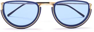 Wires Glasses Half Moon Gold, Lunar Blue & Blue