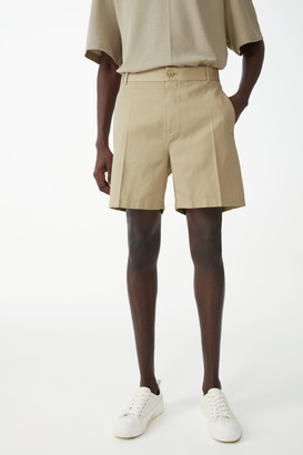 Cos Relaxed Organic Cotton-Linen Shorts