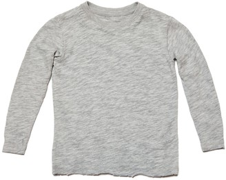 Kids Slub Jersey Long Sleeve Tee - Heather Grey