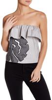 Vivienne Tam Low Cut Ruffle Shirt