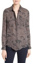 L'Agence Women's Print Silk Safari Blouse