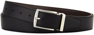 Giorgio Armani Dual-Textured Leather Belt