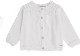 Tartine et Chocolat Cotton Crochet Cardigan