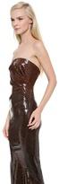 Donna Karan Strapless Sequin Evening Gown