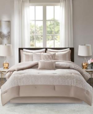 JLA Home Madison Park Ava Cal King 7 Piece Chenille Jacquard Comforter Set Bedding