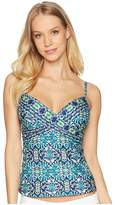 LaBlanca La Blanca Tuvalu Underwire Wrap Over the Shoulder Tankini Top Women's Swimwear