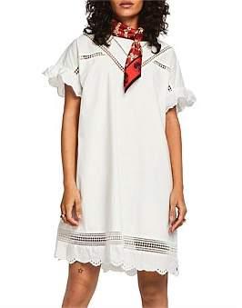 Scotch & Soda Cotton Dress With Embroidery